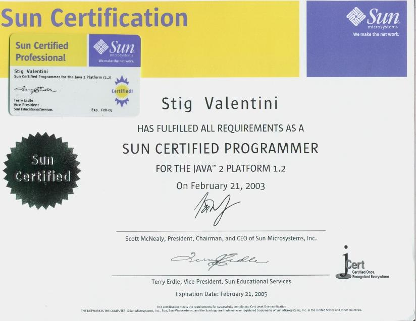 Sun prometric certification